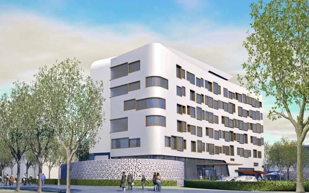 Entwurf für ein Hotel in Bremen