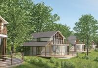 Entwurf für Ferienhäuser am Berzdorfer See