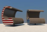 Neuinterpretation des Themas Strandkorb, Norderney
