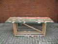 Tisch aus Leisten einer Sechs Tage Rennbahn